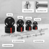 100 KG Gripper Kunststoff Komplett - Set - Gorilla Sports