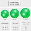 Gymnastikball Fitness Sitzball 65 cm Grün