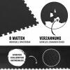 Schutzmattenset 8 Matten Schwarz