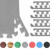 8 Endstücke für Schutzmatten Grau