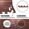 Schutzmatte 8 Endstücke Holzoptik Dunkel
