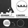 8 Endstücke für Schutzmatten Schwarz - Gorilla Sports