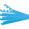 8 Endstücke für Schutzmatten Blau