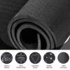 Yoga Fitnessmatte 4 mm schwarz