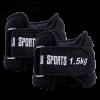 Gewichtsmanschetten Soft schwarz 3 kg - 2 x 1,5 kg