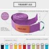 Yogagurt in verschiedenen Farben 260x3,8 cm