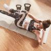Yogamatte faltbar inkl. Beutel in Rosa/Grau
