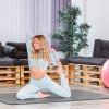 Yogamatte 183 x 60 x 1 cm Grau