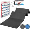 Gymnastikmatte Faltbar 180 cm PVC Frei Schwarz