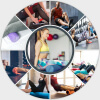 Yoga Pilates Rolle EPS Pink 45 cm