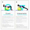 Gymnastikball Fitness Sitzball 55 cm ROT