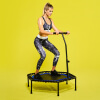 Fitness Trampolin Schwarz/Blau