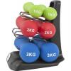 Ergonomisches Gymnastikhantelset 12 kg inkl. Hantelbaum