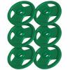 Hantelscheiben Gummi-Gripper Olympia 6x5KG - Gorilla Sports'