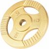 Hantelscheiben Gusseisen Gripper Gold 6x5 KG
