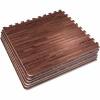 Schutzmattenset 6 Matten + 12 Endstücke Holzoptik Dunkel