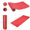 Yoga Fitnessmatte 10 mm Rot