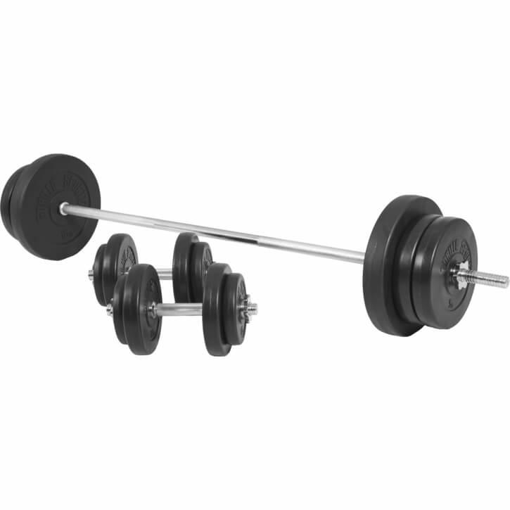 70 KG Kunststoff Langhantelset - Gorilla Sports