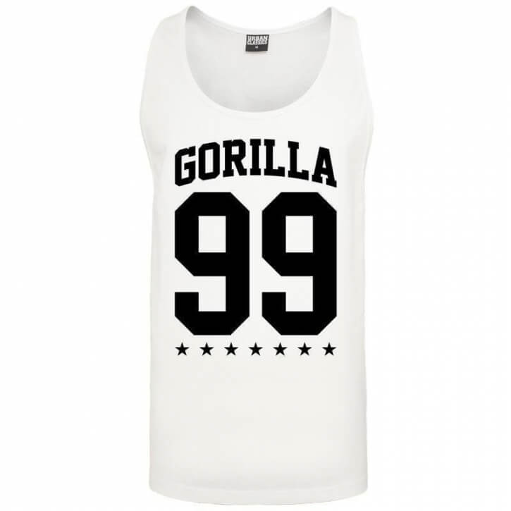 Gorilla 99 Loose Star Tank white - Gorilla Sports