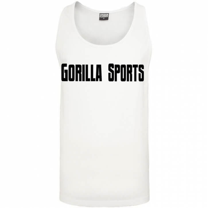 Gorilla Sports Loose Tank white - Gorilla Sports