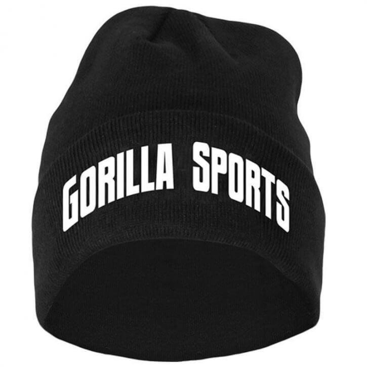 Gorilla Sports Beanie in verschiedenen Farben  black - Gorilla Sports