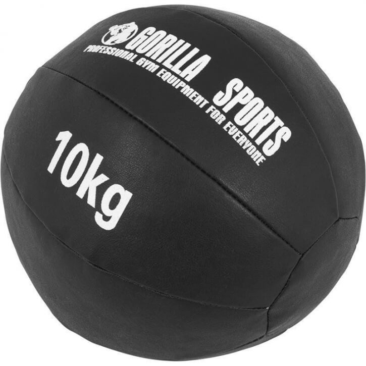 Kunstleder Medizinball 10 KG - Gorilla Sports