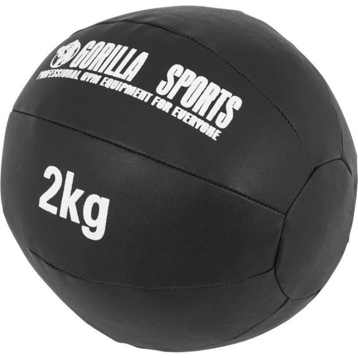 Kunstleder Medizinball 2 KG - Gorilla Sports