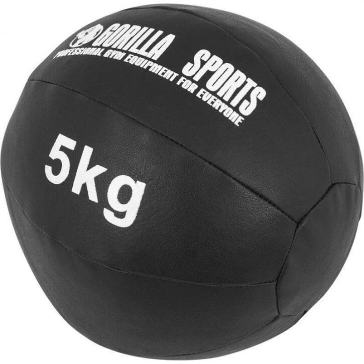 Kunstleder Medizinball 5 KG - Gorilla Sports