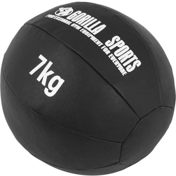 Kunstleder Medizinball 7 KG - Gorilla Sports