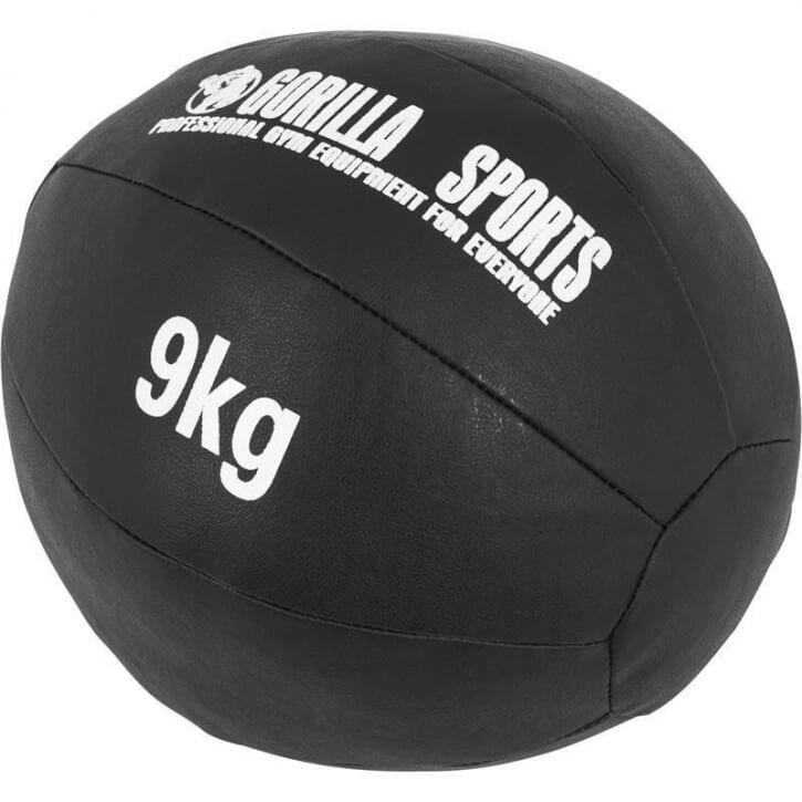Kunstleder Medizinball 9 KG - Gorilla Sports