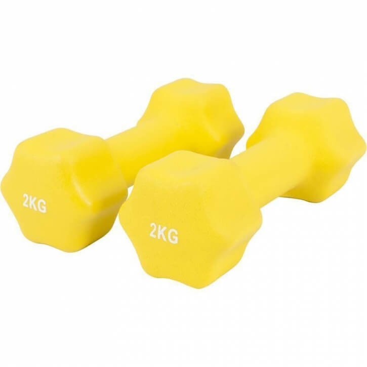 Neopren Gymnastikhanteln 4 KG (2x2 KG) - Gorilla Sports