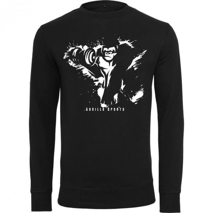 Gorilla Sports Crewneck Black/White