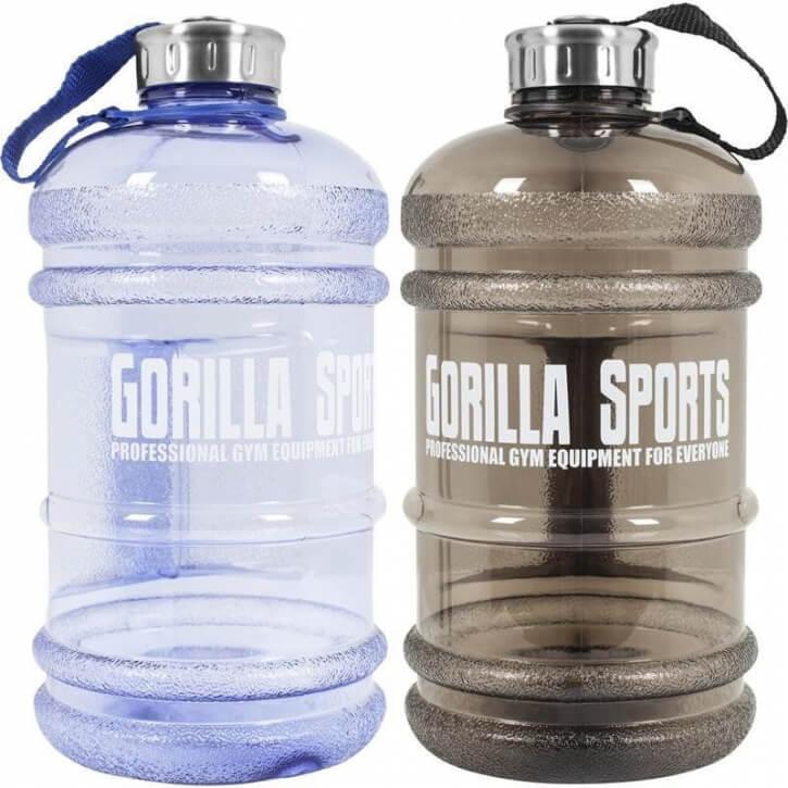 Gallone Wasser Kanister Trinkflasche 2,2 Liter Water Gallon in schwarz oder blau