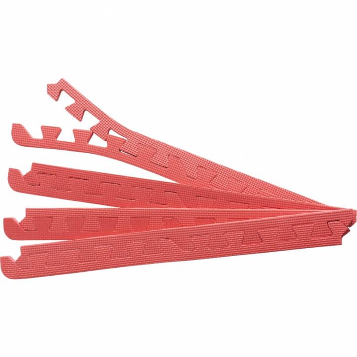 8 Endstücke für Schutzmatten Rot