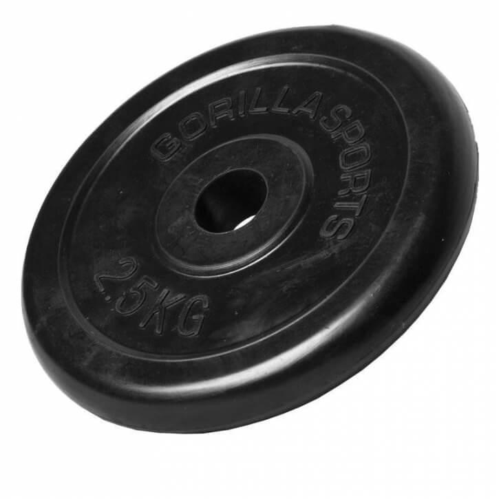 Hantelscheiben Gummi 2,5 KG - Gorilla Sports