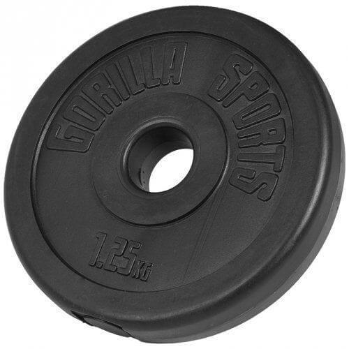 Hantelscheiben Kunststoff 1,25 KG - Gorilla Sports