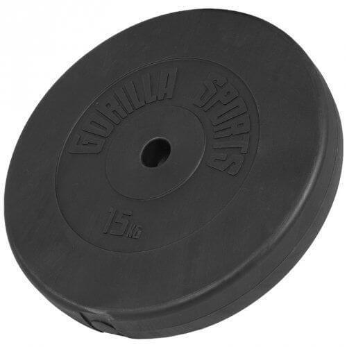 Hantelscheiben Kunststoff 15 KG - Gorilla Sports