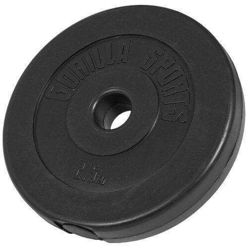 Hantelscheiben Kunststoff 2,5 KG - Gorilla Sports