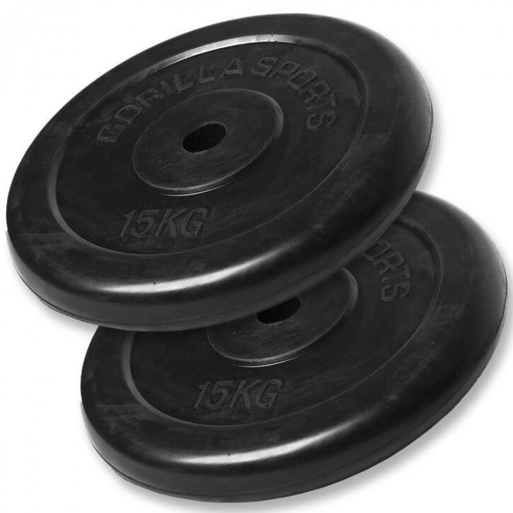 Hantelscheibenset Gummi 30 kg