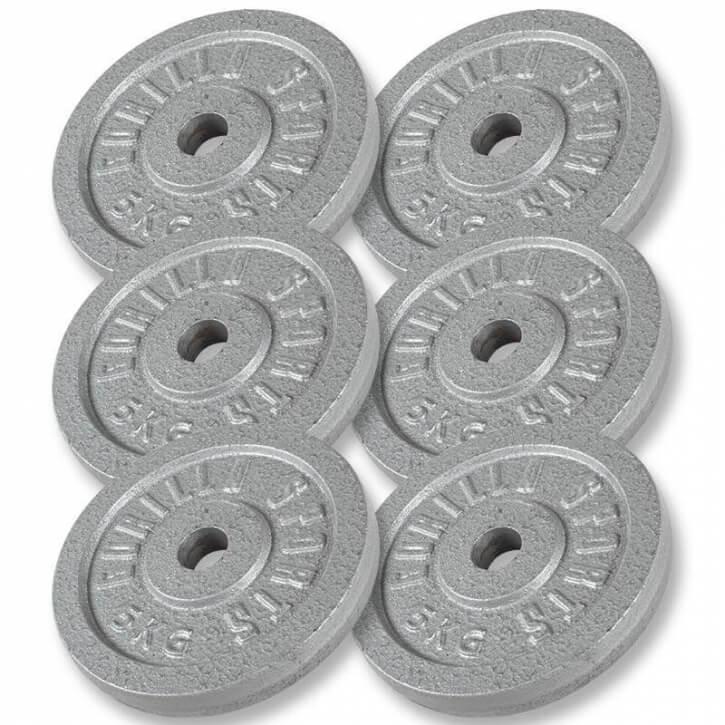 Hantelscheiben Gusseisen 6x5 KG - Gorilla Sports'