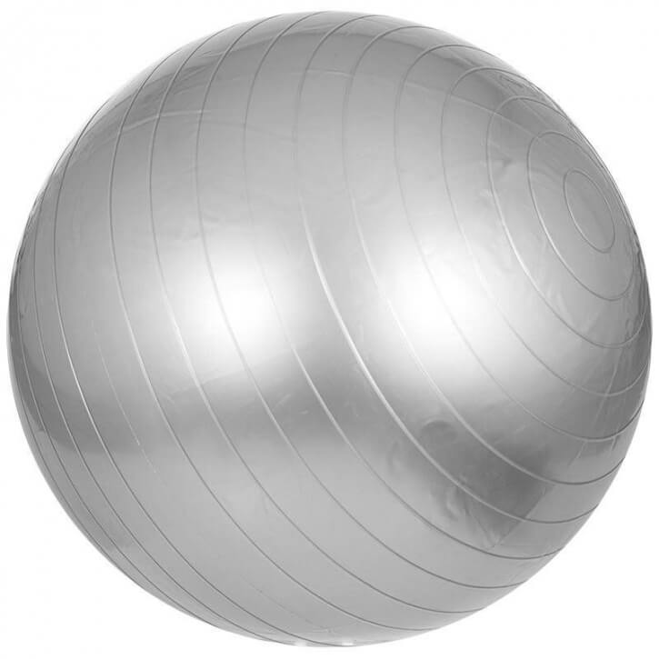 Gymnastikball Fitness Sitzball 65 cm GRAU - Gorilla Sports