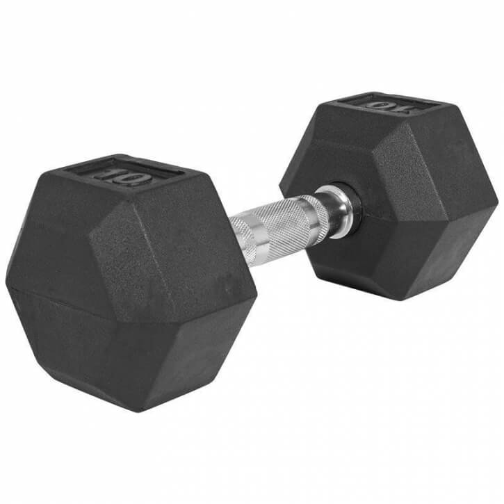 Hexagon Gummi Studio Hantel 10 KG - Gorilla Sports