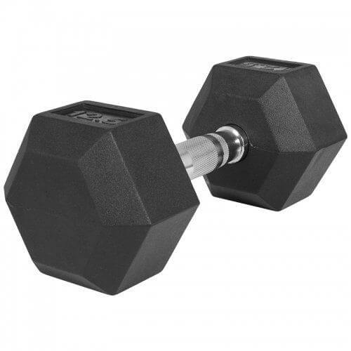 Hexagon Gummi Studio Hantel 12,5 KG - Gorilla Sports