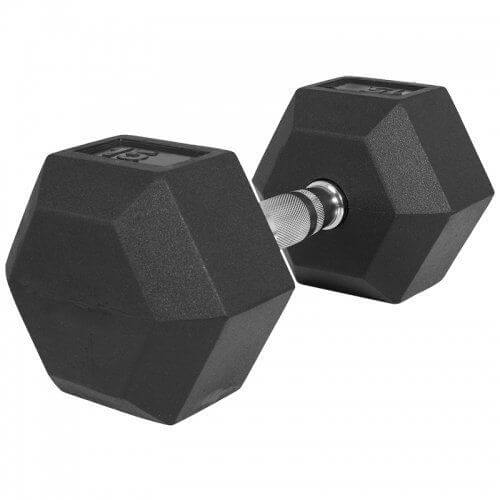 Hexagon Gummi Studio Hantel 15 KG - Gorilla Sports