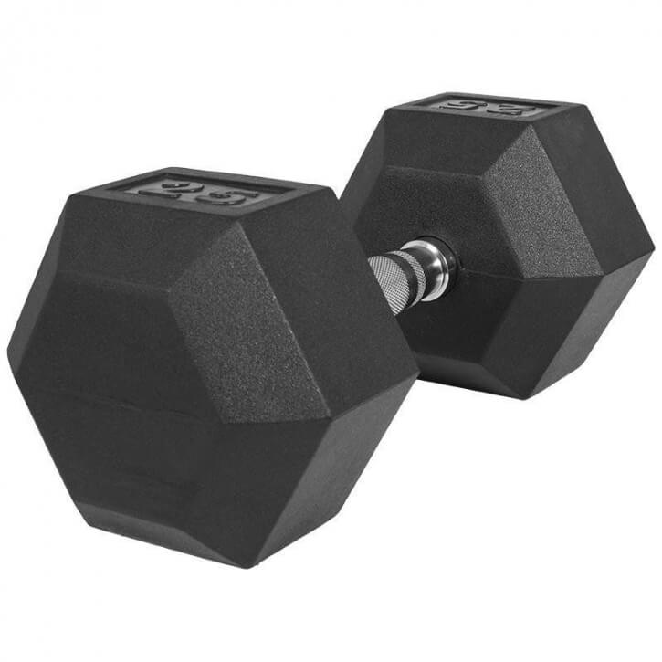 Hexagon Gummi Studio Hantel 25 KG - Gorilla Sports