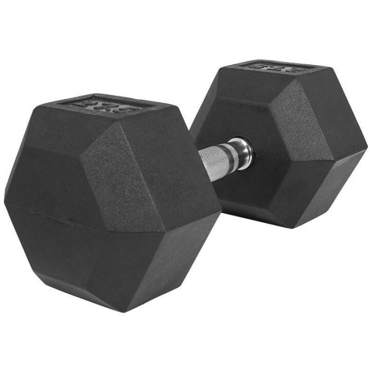 Hexagon Gummi Studio Hantel 27,5 KG - Gorilla Sports