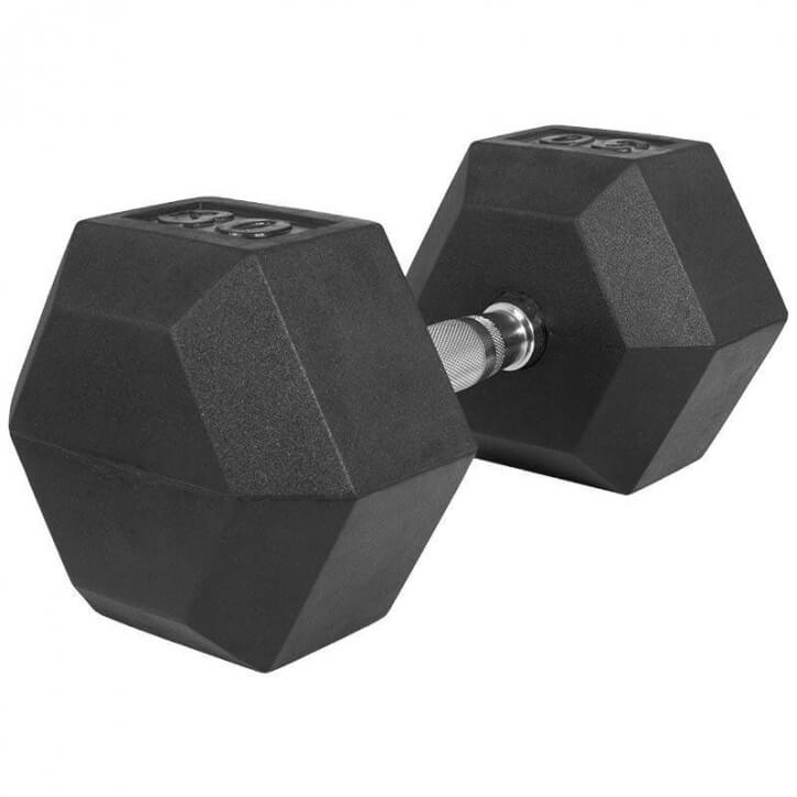 Hexagon Gummi Studio Hantel 30 KG - Gorilla Sports