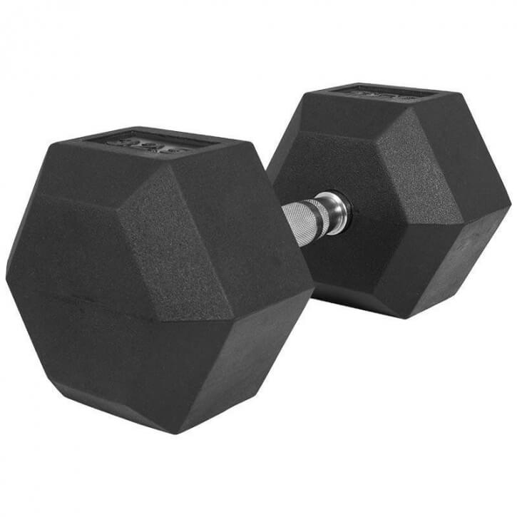 Hexagon Gummi Studio Hantel 45 KG - Gorilla Sports