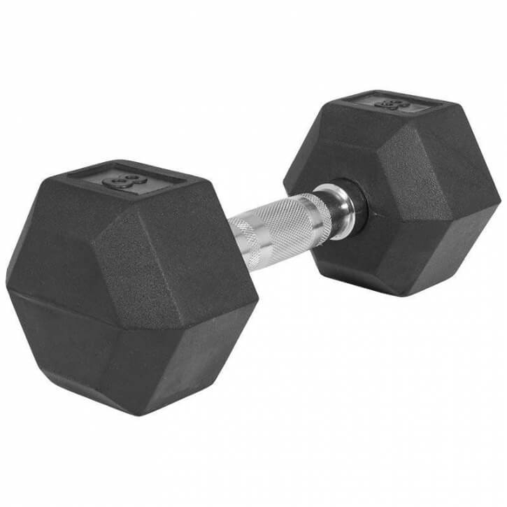Hexagon Gummi Studio Hantel 8 KG - Gorilla Sports
