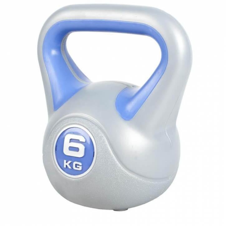 GORILLA SPORTS® Kettlebell Gusseisen verstellbar 15 kg mit Gewichtsscheiben